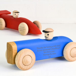 Personalised Wooden Car / Push Along Toy - personalised gifts