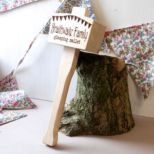 Personalised Glamping And Camping Mallet - camping