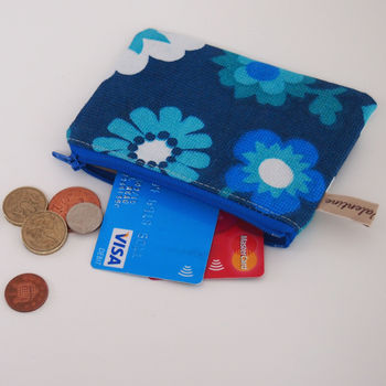 Coin Purse In Sixties Daisy Print