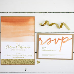 Luxe Glitter Wedding Invitation - wedding stationery