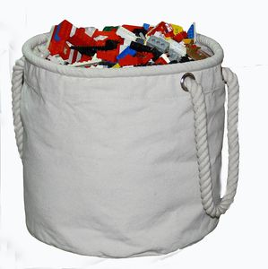 Canvas Toy Storage Bucket Bag, Medium - children's furniture