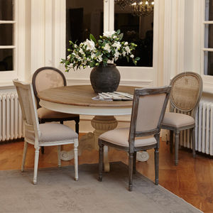 Stanley French Round Fabric Dining Chair - furniture
