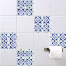 Spanish Tile Stickers Blue