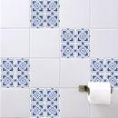Spanish Tile Stickers Blue