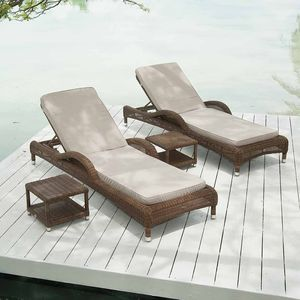 San Marino Adjustable Sunbed - garden furniture