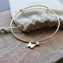 Gold Plated Adjustable Butterfly Bangle
