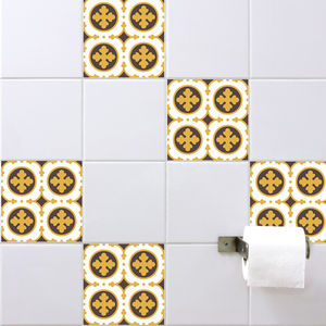 Retro Tile Stickers - bathroom