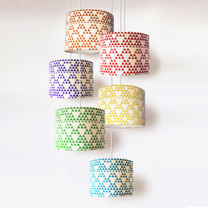 Handmade Geometric Lampshade - dining room