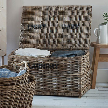 Darks And Lights Rattan Laundry Chest