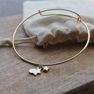 Gold Plated Adjustable Bunny Bangle - women's jewellery