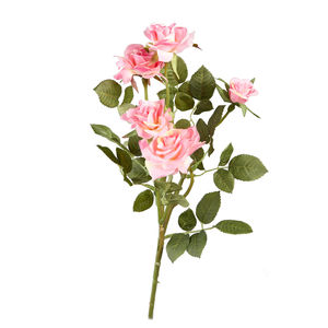 Artificial Pink Rose Stem - flowers & plants