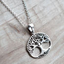Sterling Silver Tree Of Love Necklace