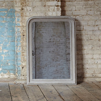 Wilton Grammercy Beaded Grey Mirror