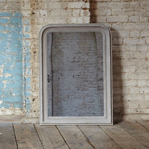 Wilton Grammercy Beaded Grey Mirror - bedroom