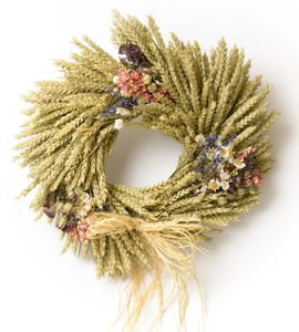 Country Garden Wheat Wreath - table decorations