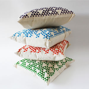 Hand Printed Cushion - cushions
