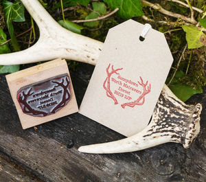 Address Stamp With Antlers - diy stationery