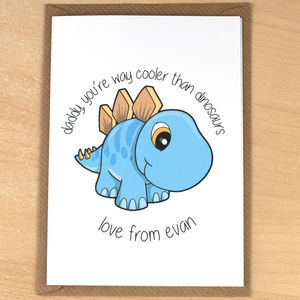 Cooler Than Dinosaurs, Personalised Father's Day Card - father's day cards