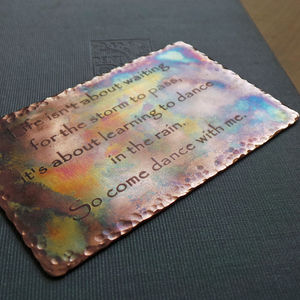 Distressed Copper Wallet Message Card - men's sale