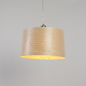 Tom Raffield Helix Drum Pendant Wooden Lampshade
