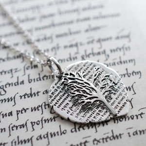 Sterling Silver Eco Tree Necklace - new in mother's day