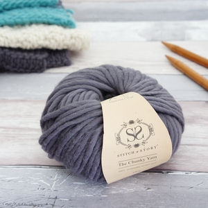 Super Chunky Merino Knitting Wool Yarn Fossil Grey - throws, blankets & fabric
