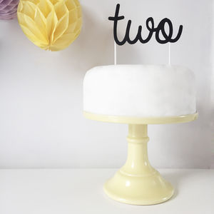 Personalised Wedding Or Birthday Cake Topper - cake toppers & decorations