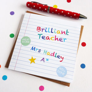 Brilliant Teacher Card - gifts for teachers