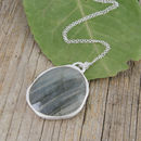 Silver Labradorite Statement Necklace