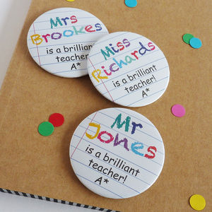 Brilliant Teacher Badge - pins & brooches