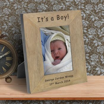 Its A Boy! Personalised Picture Frame