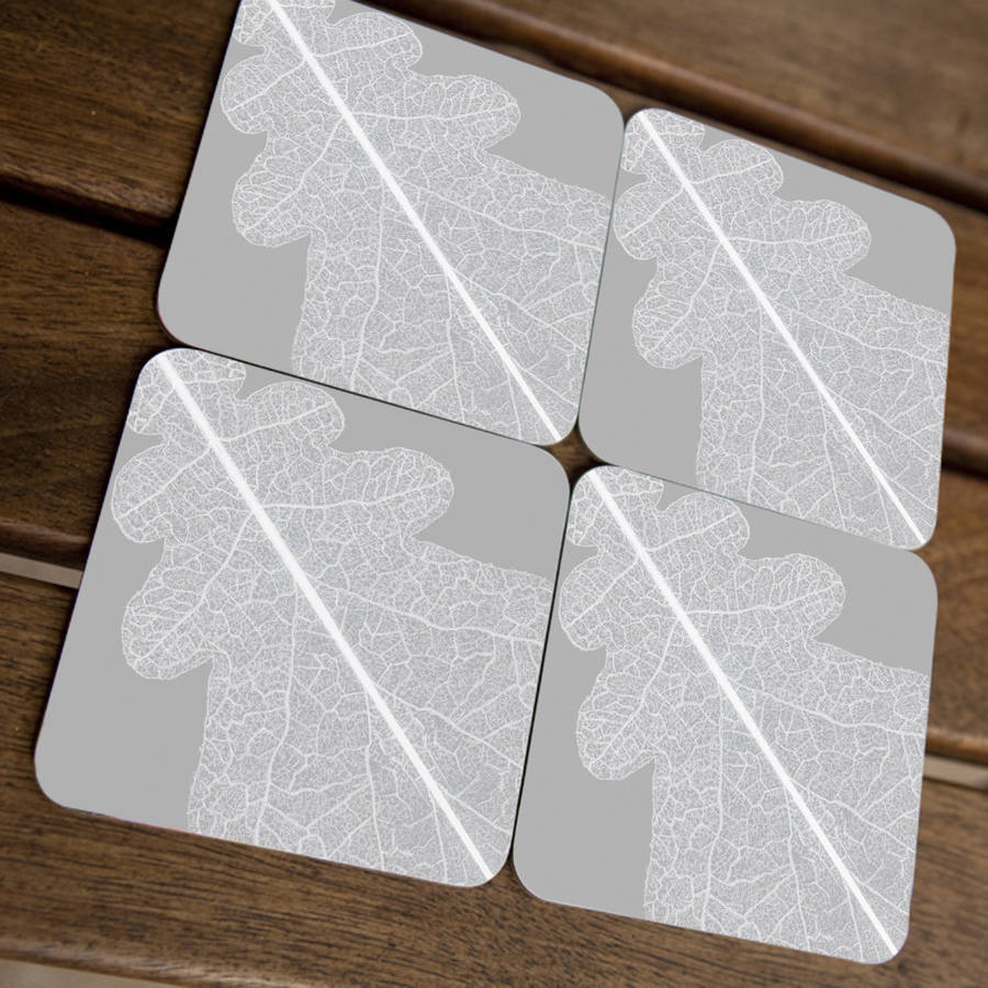 Oak Leaf Coasters
