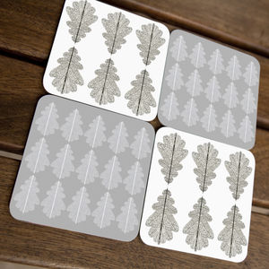 Oak Pattern Coasters - placemats & coasters