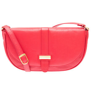 The Halfpenny Coral Red Leather Handbag