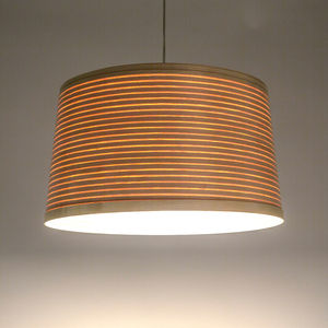 Tom Raffield Helix Drum Pendant Wooden Lampshade Large - lamp bases & shades