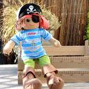 Personalised Boys' Peter Pirate Rag Doll
