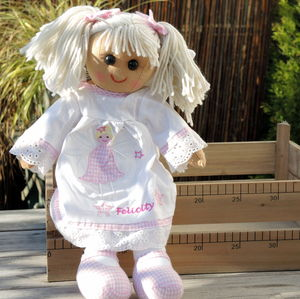 Personalised Angel Rag Doll - flower girl gifts