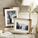Classic Polished Silver Picture Frame With Ivory Mount