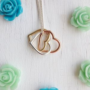 Eternity Heart Solid Gold And Silver Pendant - rose gold jewellery