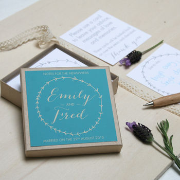 Personalised Wedding Guest Message Box