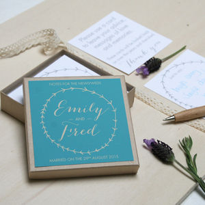 Personalised Wedding Guest Message Box - rustic wedding