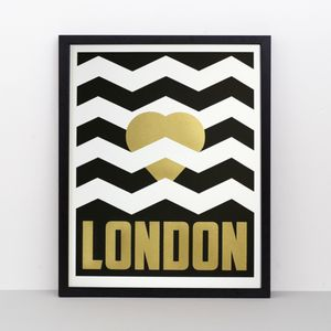 Heart London Screen Print