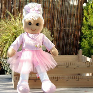 Personalised Ballerina Rag Doll - soft toys & dolls