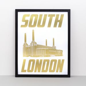 South London Screen Print - prints for christmas