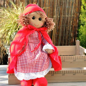 Personalised Little Red Riding Hood Rag Doll - toys & games
