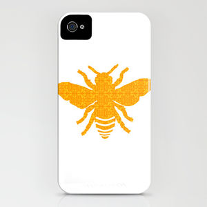 Honeybee With Damask Design On The Phone Case - laptop bags & cases