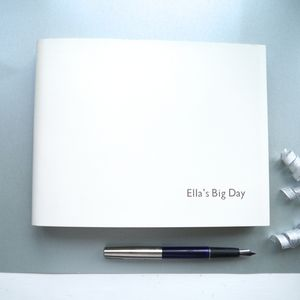 Leather Personalised Wedding Planner - albums & guest books