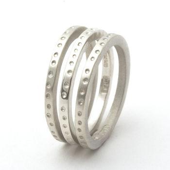 Skinny Handmade Dotty Stacking Ring