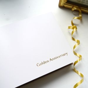 Personalised Golden Wedding Leather Photo Album - albums & guestbooks