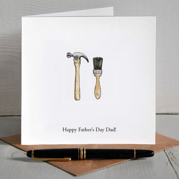 Diy Illustrated Personalised Father's Day Card